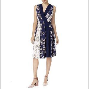 NWOT Maison Jules Floral Summer Wrap Dress L/XL